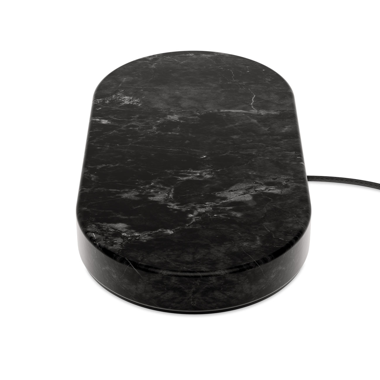 Wireless Charging Dual Stones Black Marble - Eggtronic